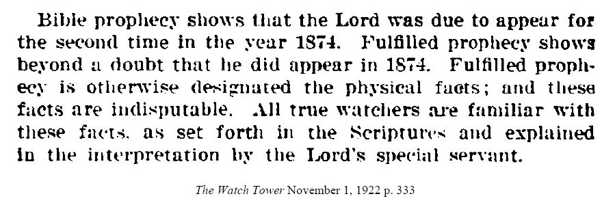 1922 watchtower regarding 1874 page 333